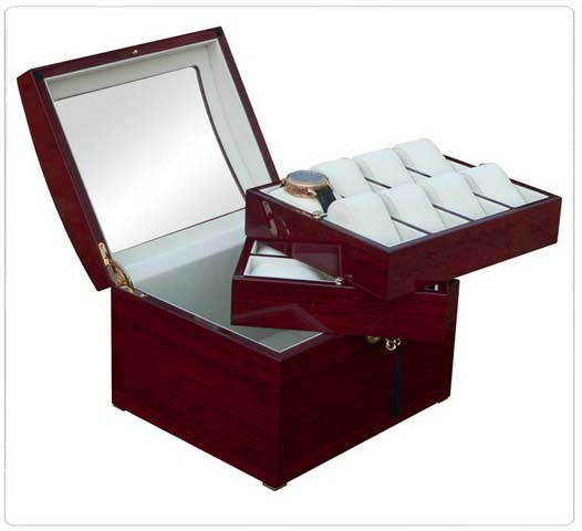 Watchbox for 16 Watches / KIRSCH with window - 7613