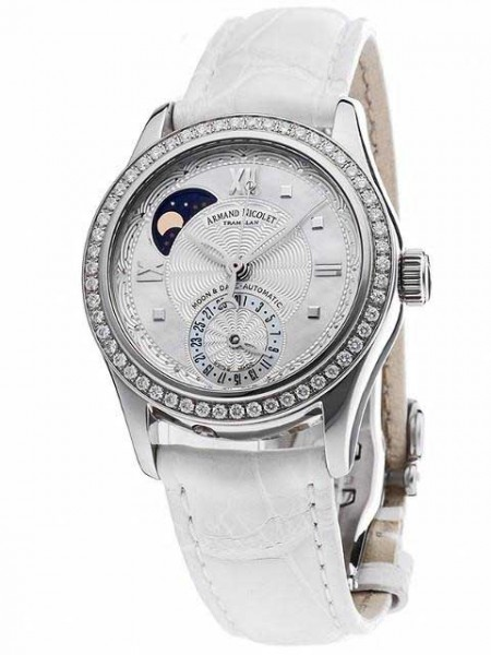 Armand Nicolet M03 Moonphase & Date with Diamonds 9151D-AN-P915BC8