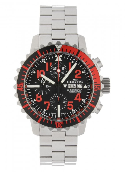 Fortis Aquatis Marinemaster Chronograph Red 671.23.43 M