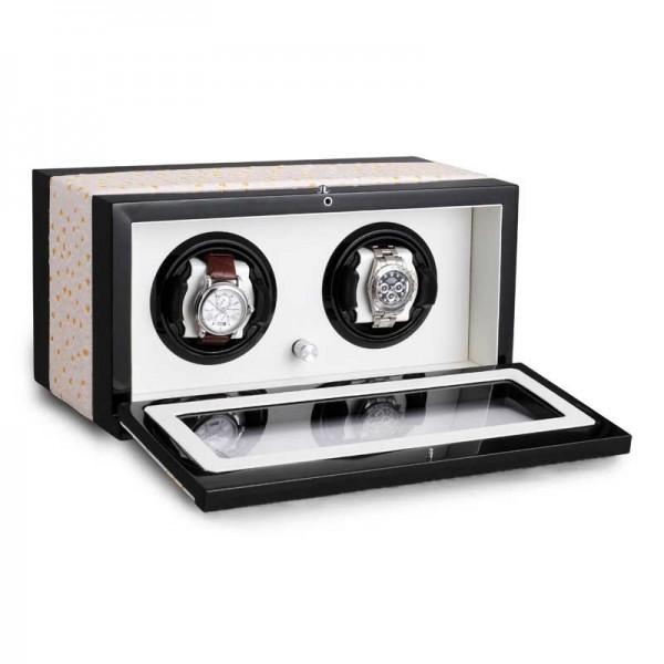 Watchwinder for 2 Watches UBO2050 - Weiß