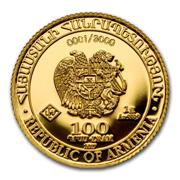 2016 Armenia 1//4 oz Silver 100 Drams Noah's Ark Coin .999 Fine