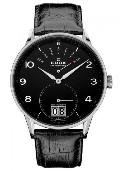 Edox Les Vauberts Day Retrograde Big Date 34005 3N NBN