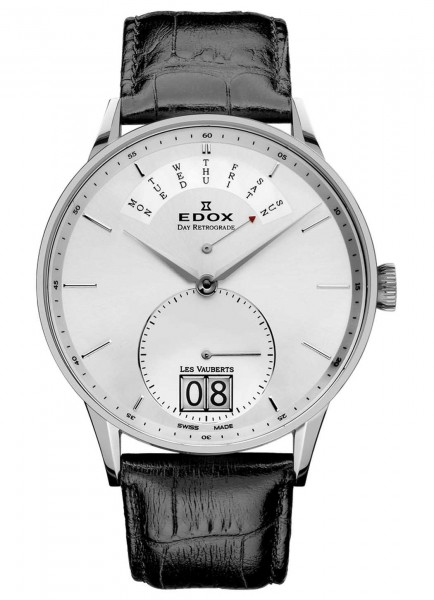 Edox Les Vauberts Day Retrograde Big Date 34005 3A AIN