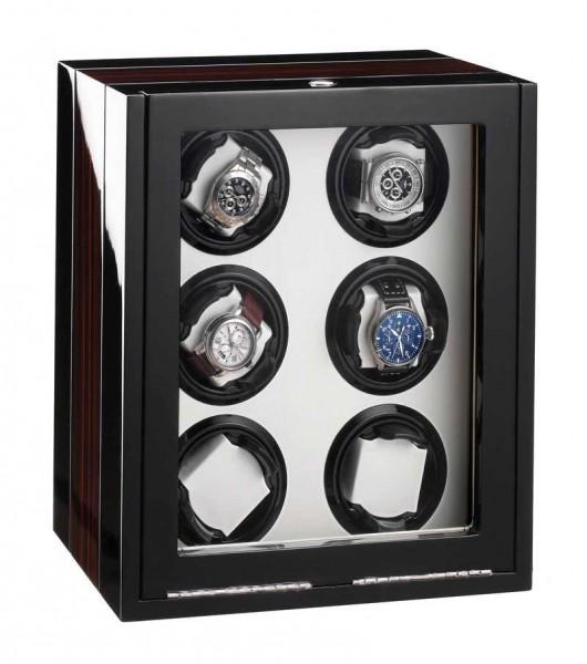 Watchwinder for 6 Watches UBO2047 - Mahagony/Makassar