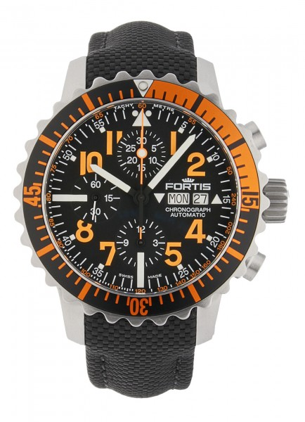 Fortis Aquatis Marinemaster Chronograph Orange 671 19 49 Lp