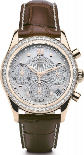 Armand Nicolet M03 18kt Gold Chronograph with Diamonds 7151D-AN-P915MR8