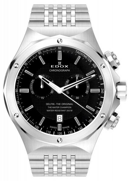 Edox Delfin - The Original Mens Watch Chronograph 10106 3 NIN
