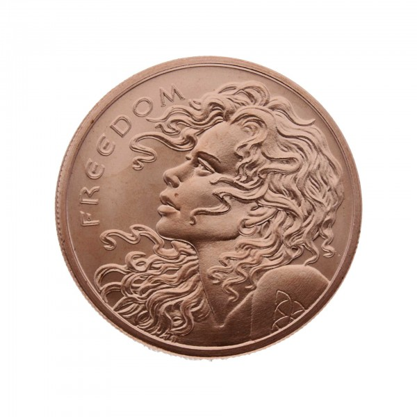 "2015 /""Freedom Girl/"" 1 oz .999 Copper Round"