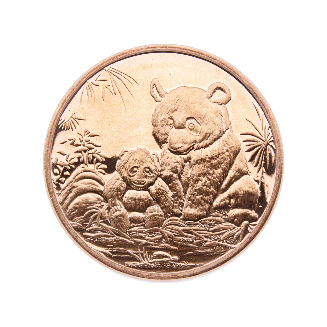 """1 AVDP OZ. Fine Copper .999 """"Panda"""""""