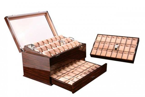 Watchbox for 72 Watches / MAKASSAR with window - Dreambox 111
