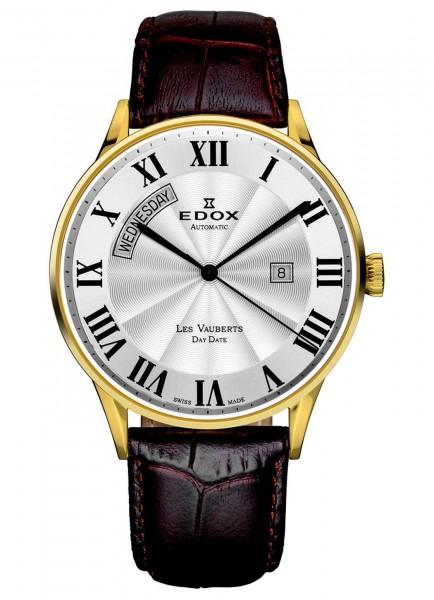 Edox Les Vauberts Day Date Automatic 83010 37J AR