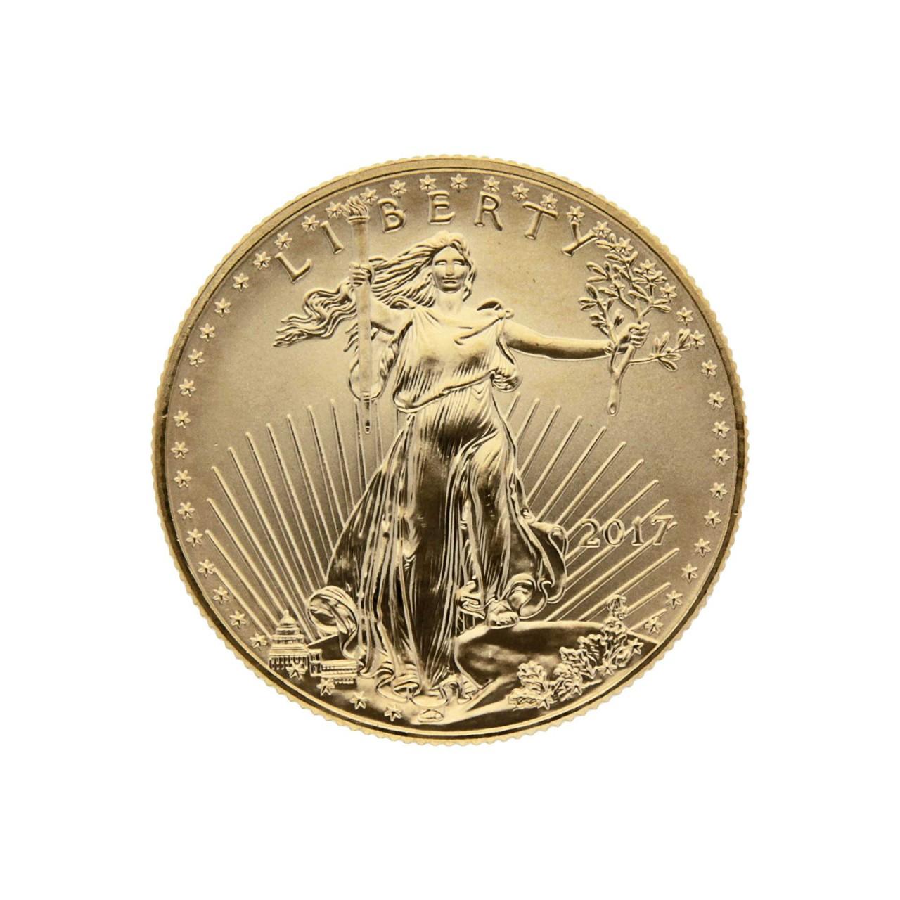 1 2 Oz USA 2017 American Gold Eagle 25 Dollar Goldcoin