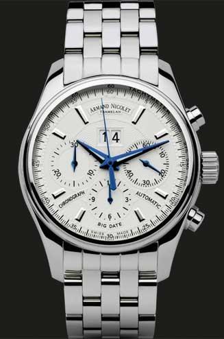 Armand Nicolet M02 Big Date & Chronograph 9648A-AG-M9140